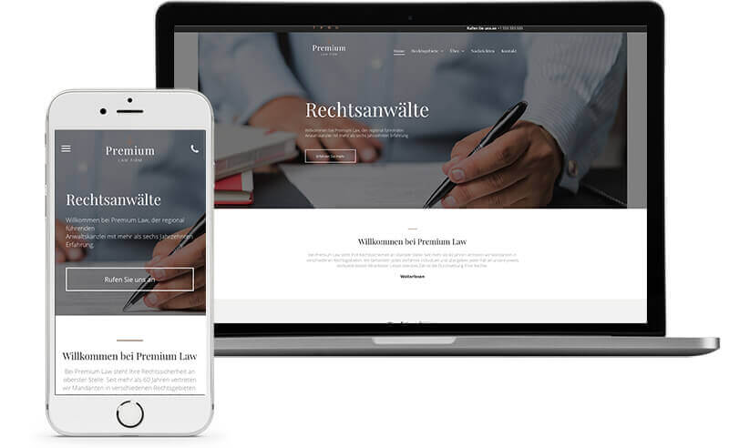 Website Builder, Template for Lawyer Website