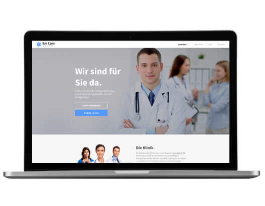 Website Builder, template for doctor's office website