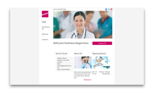 Template for Doctor/doctor's office Website