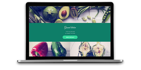 Website Builder, Food Blog Template