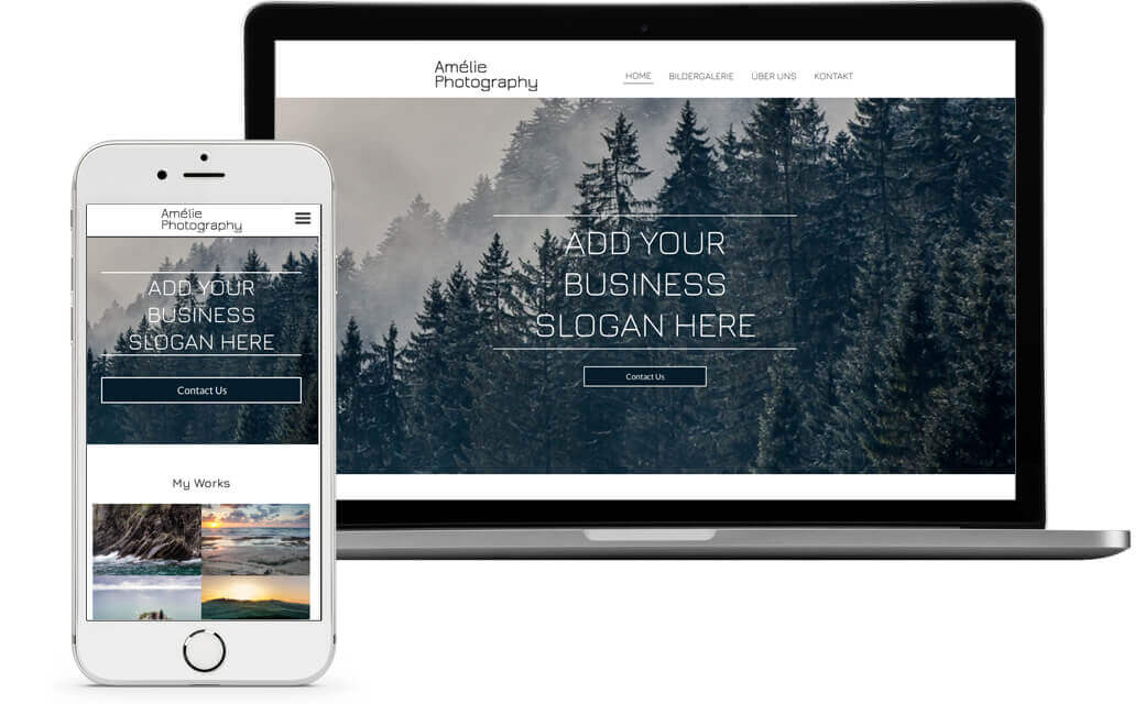 website builder, template for photographers website