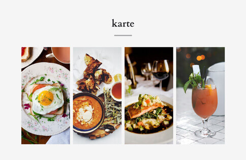 Website Builder, template for gastronomy website