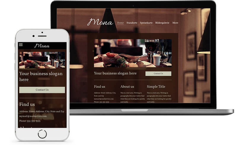 website builder template for a gastronomy website