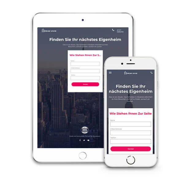Website Builder, Real Estate Template for iPad and iPhone