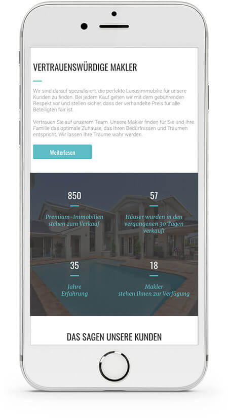 Website Builder, Real Estate Template for iPhone