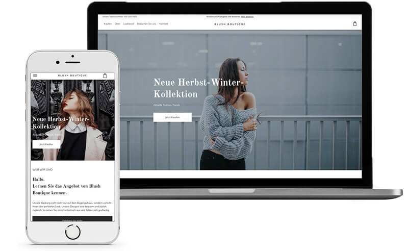 Website Builder, Template for fashion blog