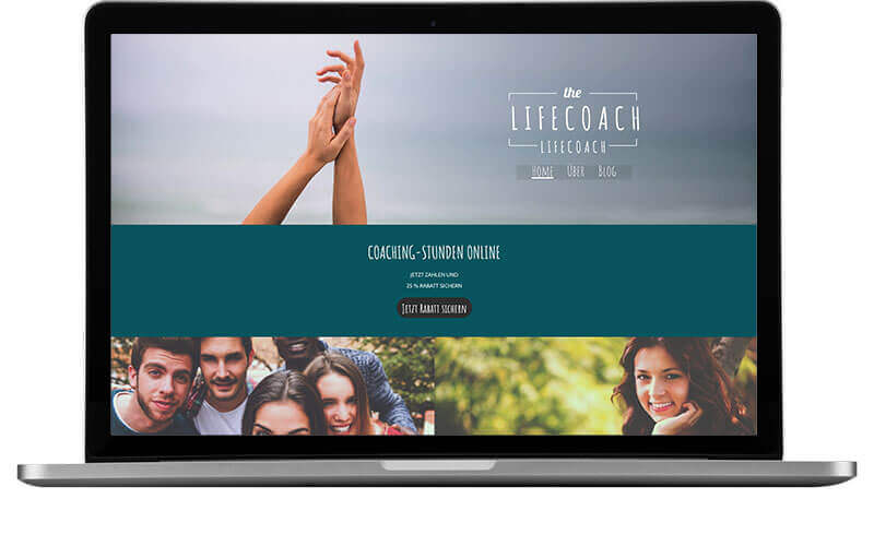 website builder, template for your psychologist website, laptop view