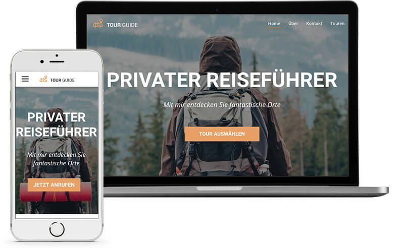 Website Builder, Template for a Travel Blog, create Travel Blog
