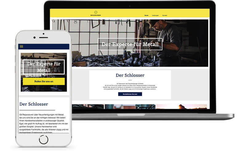 website builder, template for a locksmith website