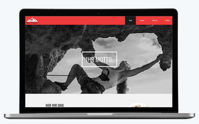 Website Builder, Template for club website