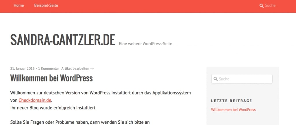 No problem even for laypeople: Themes can be installed with just a few clicks in WordPress. Screenshot: Sandra Cantzler